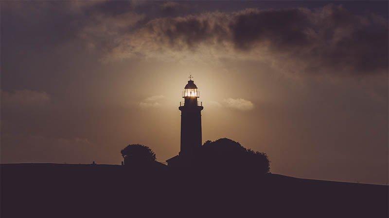 Leuchtturm als Symbol