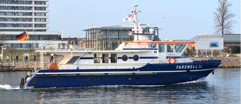MS Farewell II Schiff der Seebestattungs-Reederei Hamburg