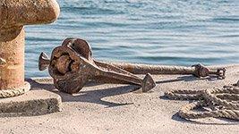 Anker als Symbol für die Seebestattung